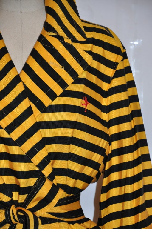 "Women's Moschino Yellow and black 'Bumble-bee"" trench For Sale"