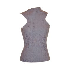 Gianni Versace lavender open-weave top