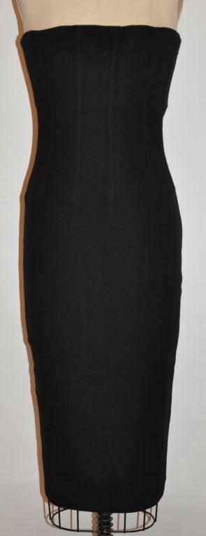 Dolce & Gabbana black strapless cocktail dress 2