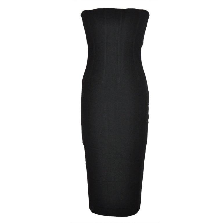 Dolce & Gabbana black strapless cocktail dress 1