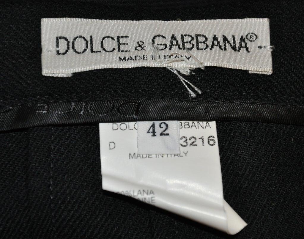 Dolce & Gabbana black form-fitting pencil skirt 6