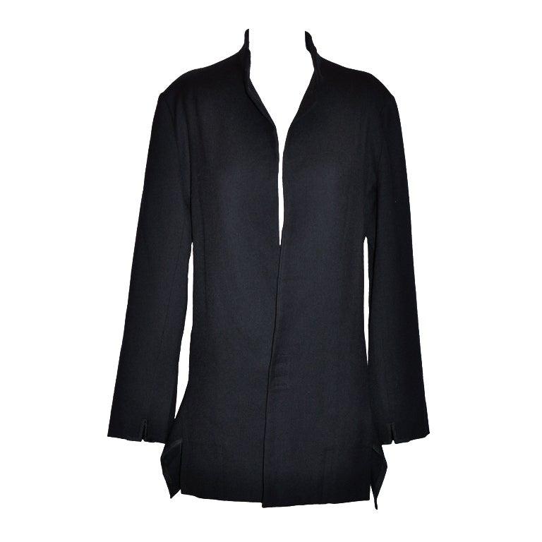 Yohji Yamamoto deconstructed dark navy jacket