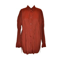 Issey Miyake Brick-colored button shirt