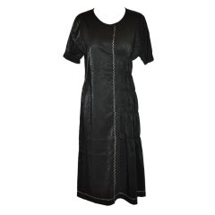 Nobu Nakano (Japan) Black with cream embroidery dress