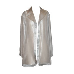 Alma couture steel-gray silk jacket