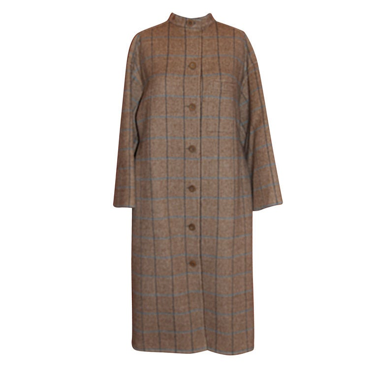 Geoffrey Beene's camel double-faced felted Apache wool coat