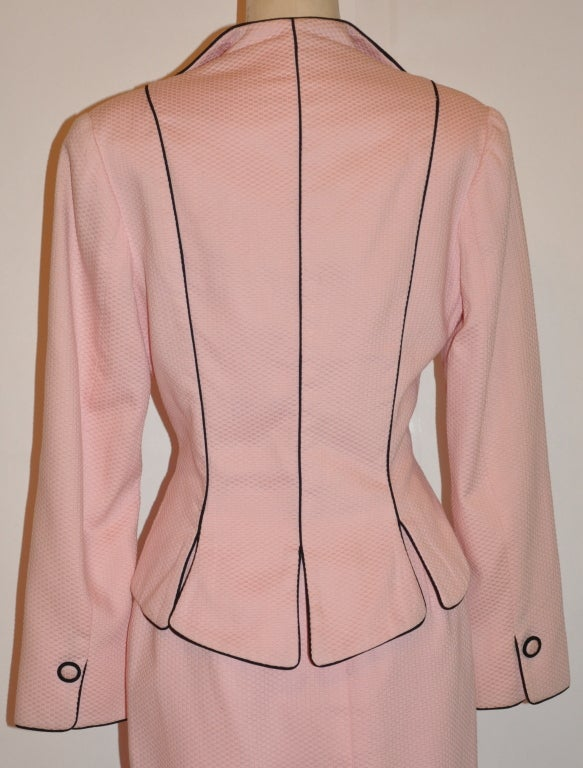 Pilar Rossi couture pink with black cotton poplin ensemble 4