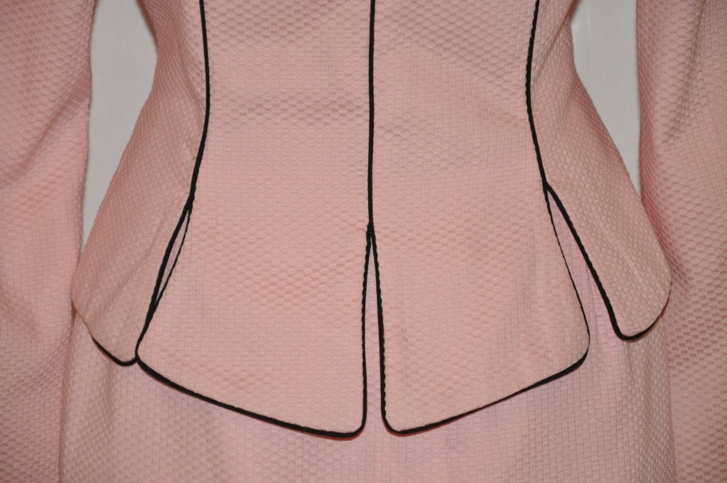 Pilar Rossi couture pink with black cotton poplin ensemble 5