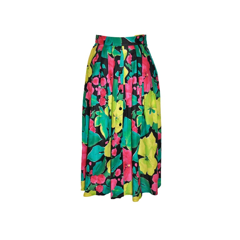 Jaeger multi-color floral skirt