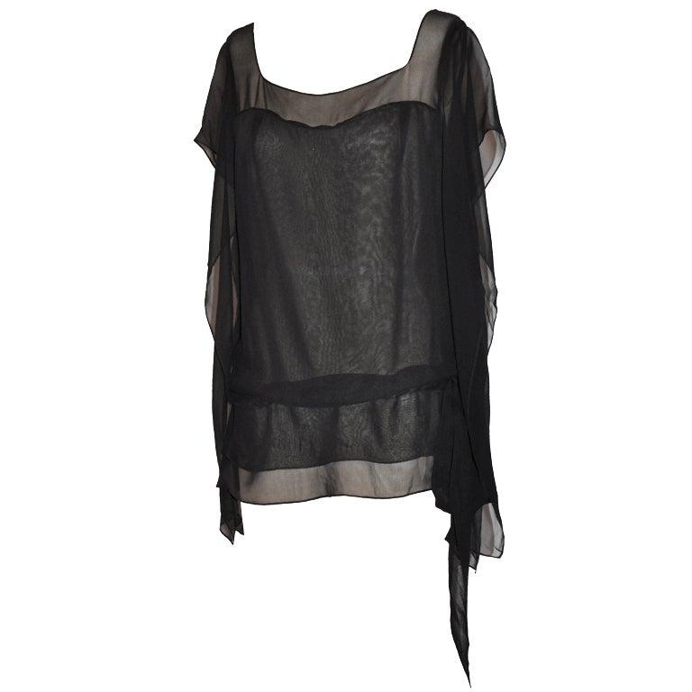 Morgane Le Fay black chiffon tunic