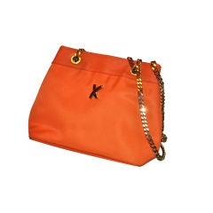 "Paloma Picasso Tangerine ""X"" shoulder bag"