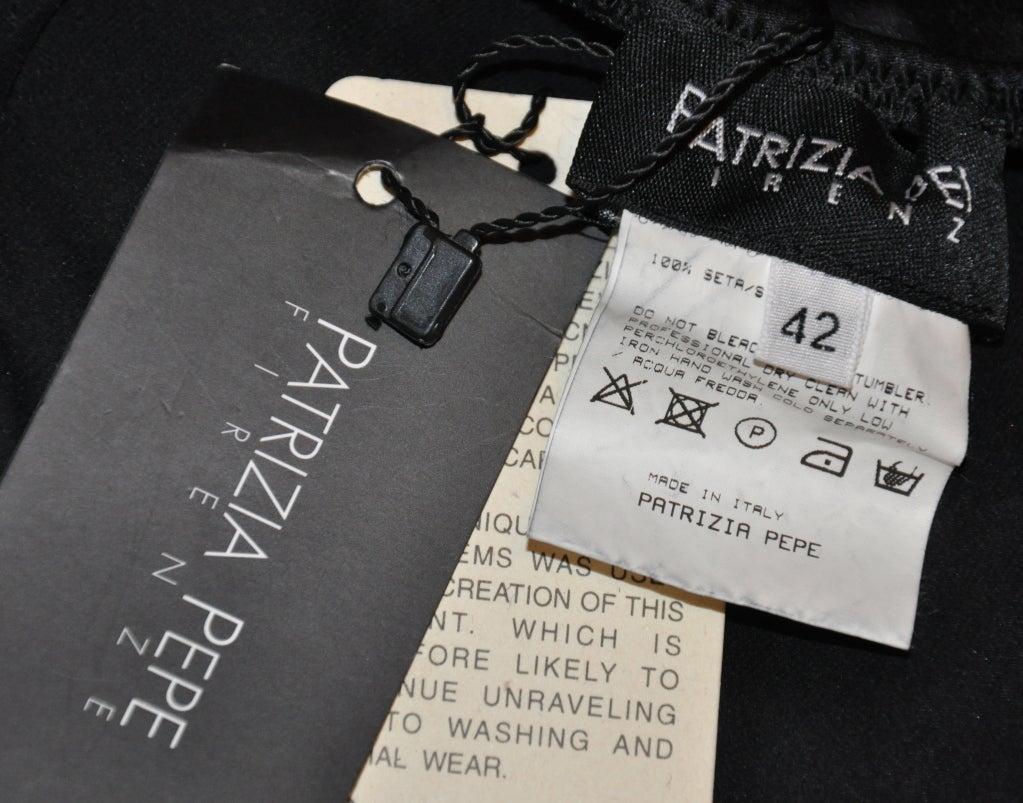 Patrizia Pepe black asymmetric silk & lace skirt 4