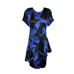 Junko Koshino Asymmetrical Black & Navy dress