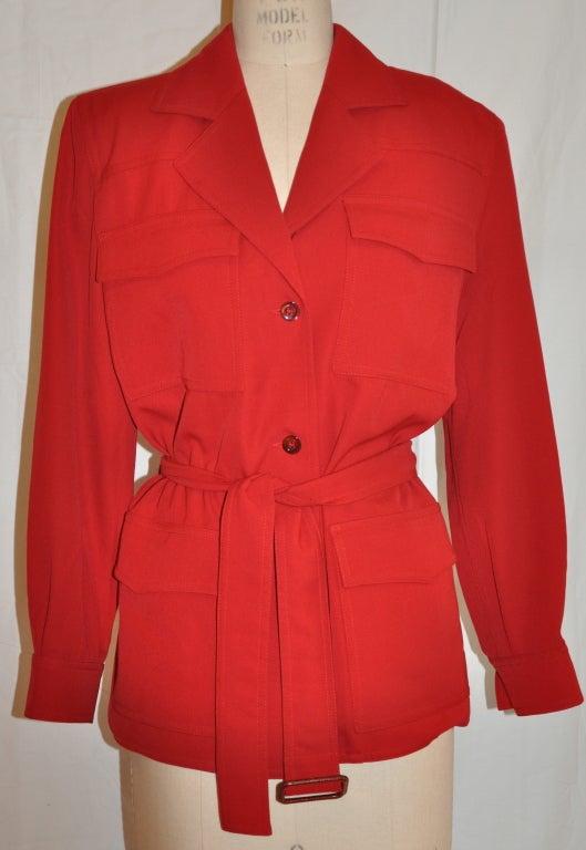Angelo Tarlazzi red safari jacket 2