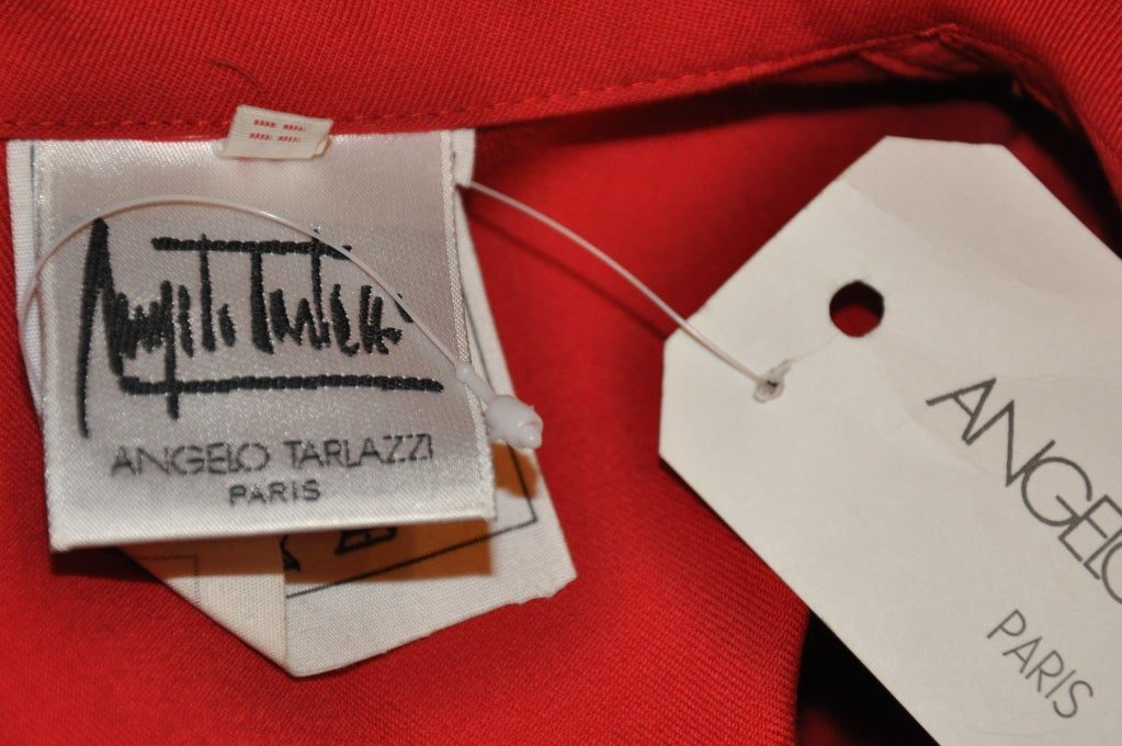 Women's Angelo Tarlazzi red safari jacket For Sale