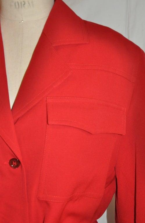 Angelo Tarlazzi red safari jacket For Sale 1