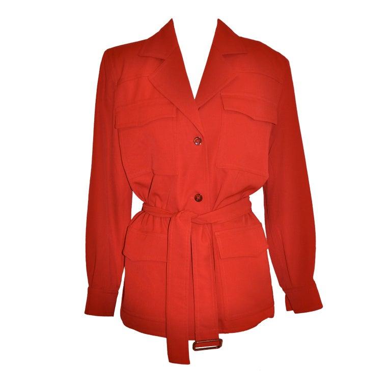 Angelo Tarlazzi red safari jacket For Sale
