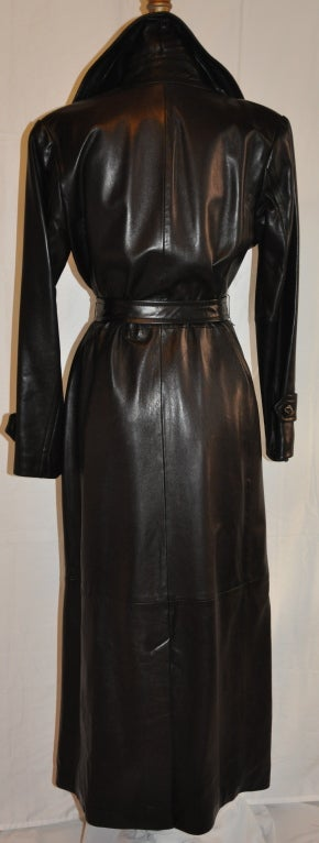 Donna Karan Black Floor Length Leather Wrap At 1stdibs