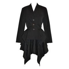 Jean Paul Gaultier asymmetrical tier jacket ensemble