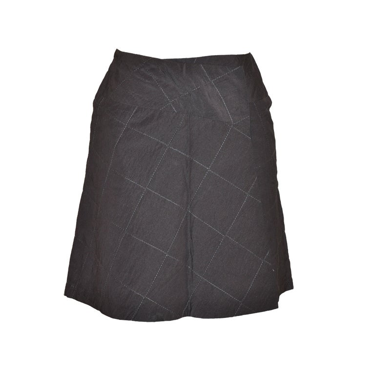 Kenzo quilted wrap skirt
