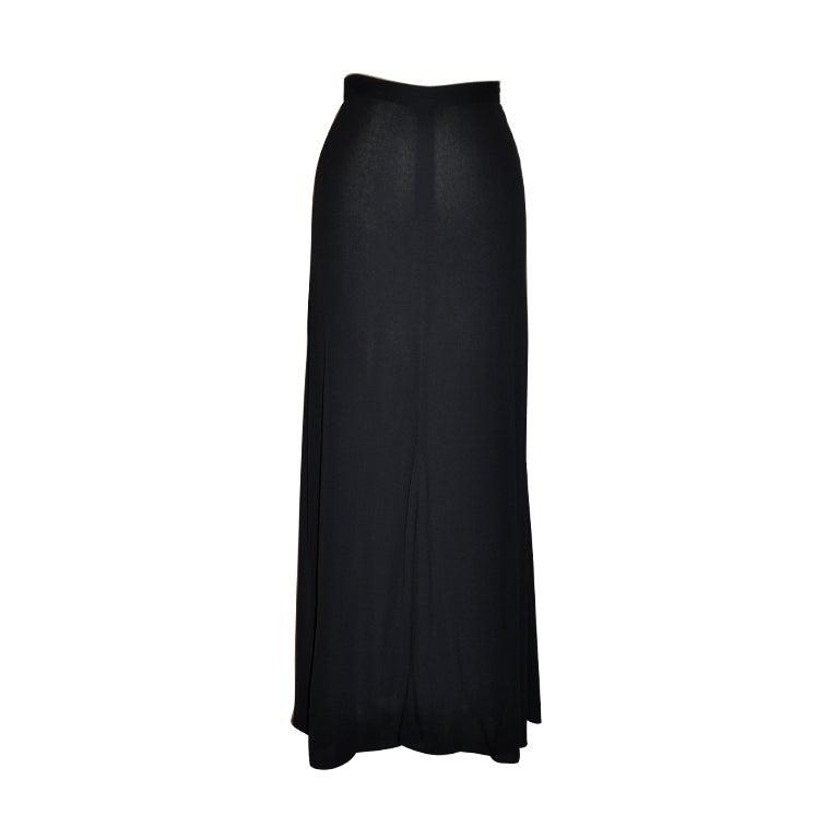 """Calvin Klein """"collection"""" black crepe maxi skirt"""