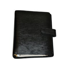 Louis Vuitton black leather agenda
