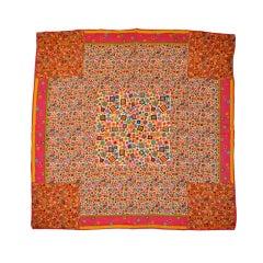 Perry Ellis geometric multicolor silk scarf