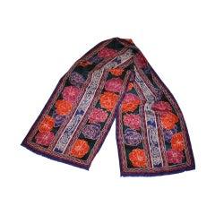 Oscar de la Renta multicolor floral rectangle scarf