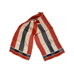 "Oscar de la Renta silk ""American stripes"" silk scarf"