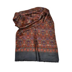 Oleg Cassini silk palsy scarf