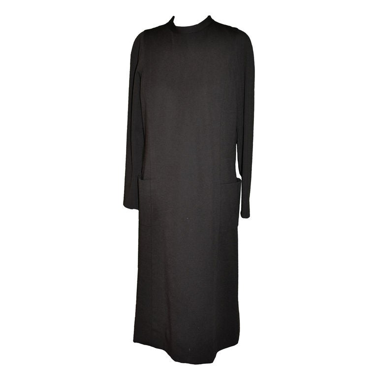Pauline Trigere Coco Wool jersey dress