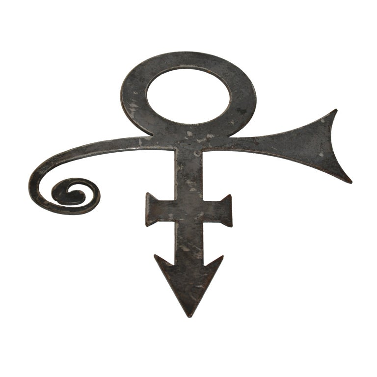 """Prince Iconic """"Formerly Known As Prince"""" Huge Pendant & Wall Piece"""