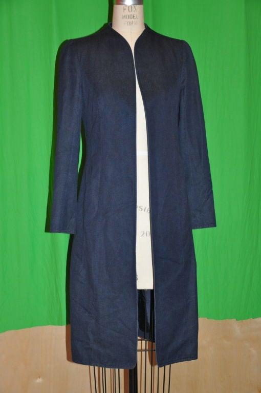 Thierry Mugler Denim spring coat 2