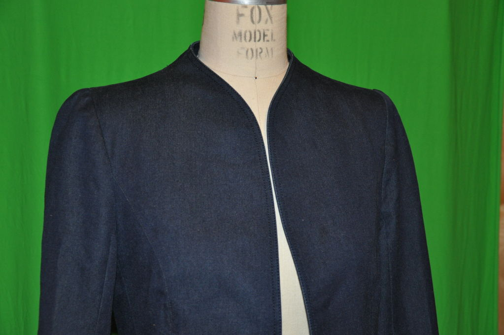 Thierry Mugler Denim spring coat 3