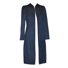 Thierry Mugler Denim spring coat