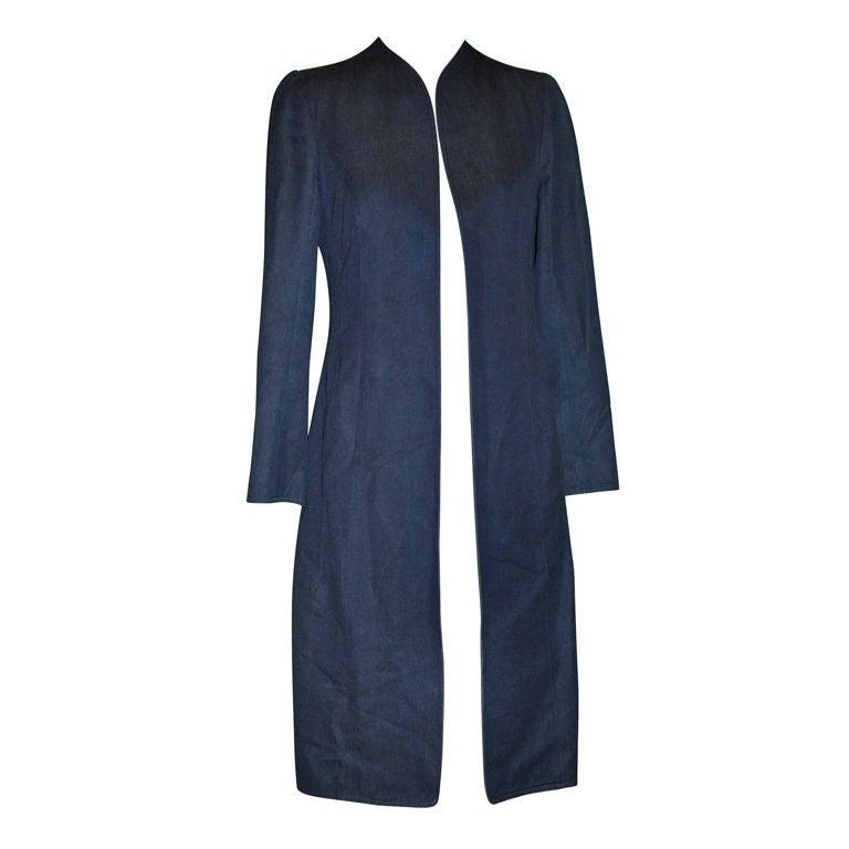 Thierry Mugler Denim spring coat 1