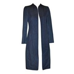 Thierry Mugler Signature Denim spring coat