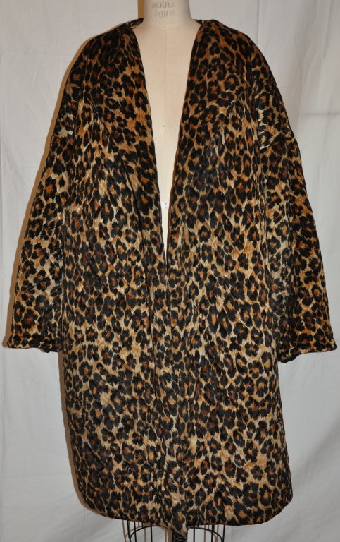 Rare Patrick Kelly quilted leopard print coat 3