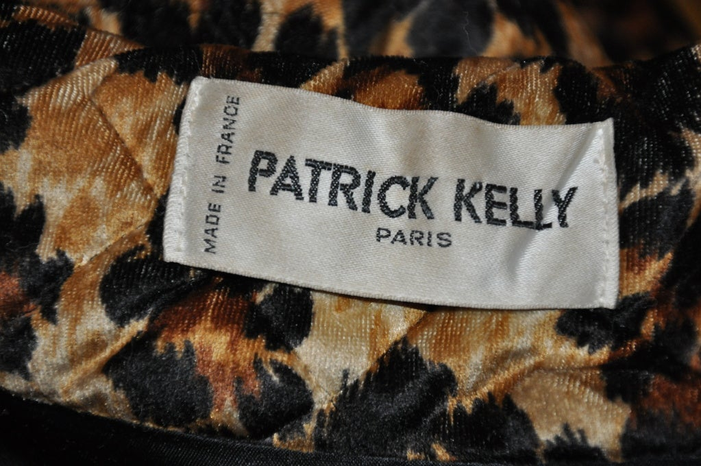 Rare Patrick Kelly quilted leopard print coat 4
