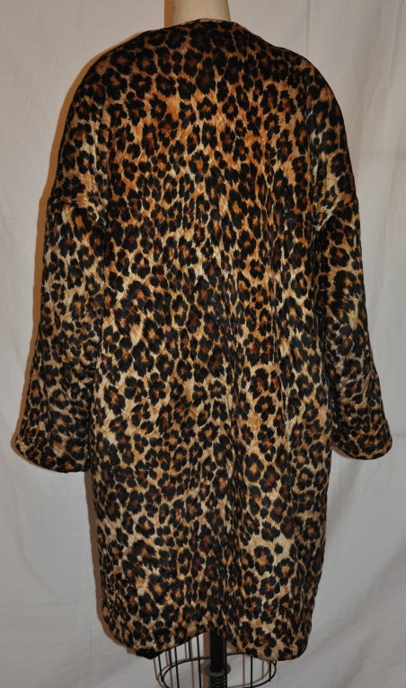 Women's Rare Patrick Kelly quilted leopard print coat For Sale