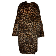 Rare Patrick Kelly quilted leopard print coat