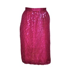 "Deep-violet chiffon ""starburst"" sequin skirt"