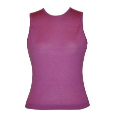 "Ralph Lauren ""The Custom Collection"" violet cashmere tank"