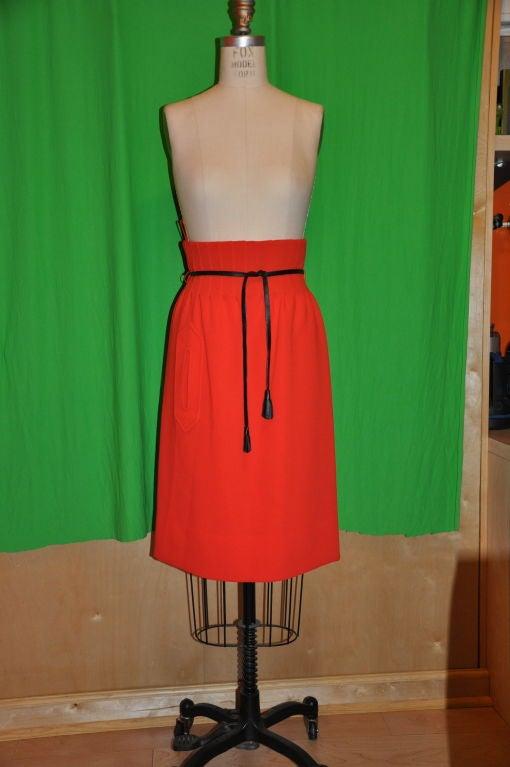 Iconic Pierre Cardin/ Bonwit Teller Neon Red skirt. 2
