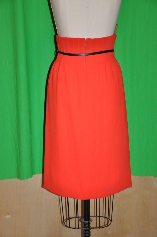 Iconic Pierre Cardin/ Bonwit Teller Neon Red skirt. 3
