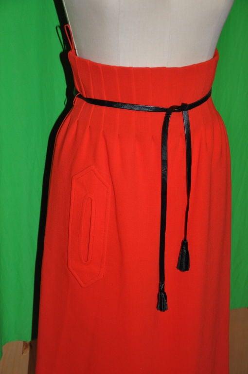Iconic Pierre Cardin/ Bonwit Teller Neon Red skirt. 4