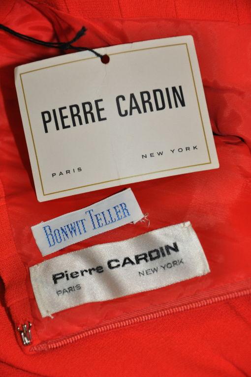 Iconic Pierre Cardin/ Bonwit Teller Neon Red skirt. 5