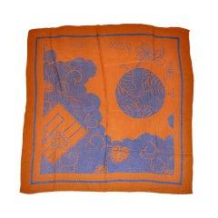 Lanvin texture silk scarf