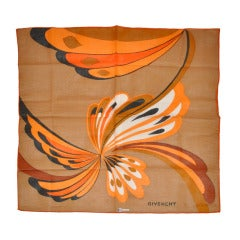 Givenchy by Bloch Freres Bold Abstract Cotton Scarf