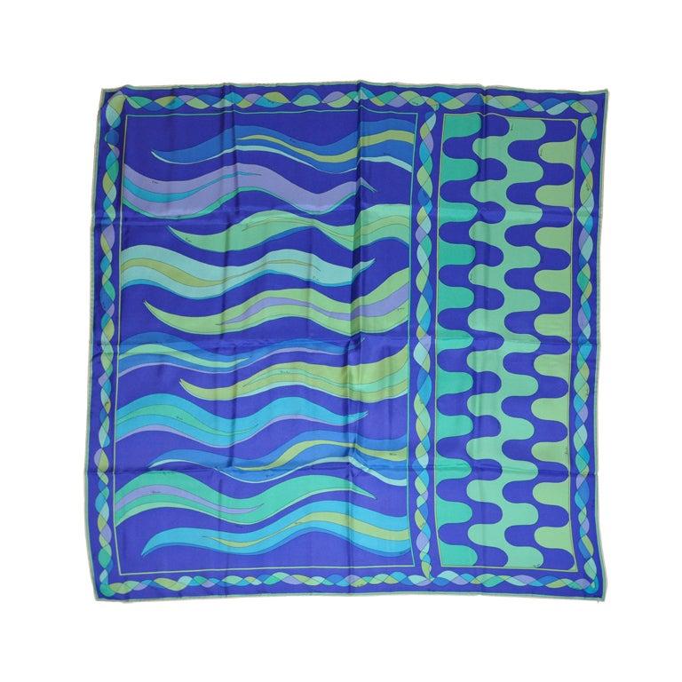 "Emilio Pucci Bold multicolor ""Waves"" scarf"